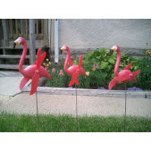 Twirling Pink Flamingos Yard/Lawn Ornaments - Set of 24