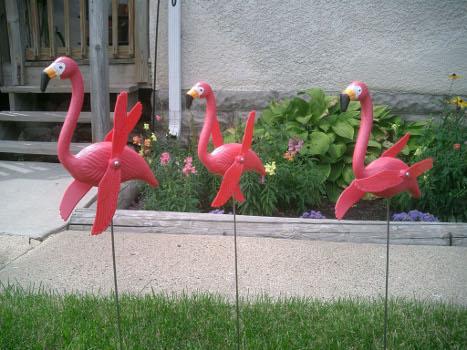 Twirling Pink Flamingos Yard Lawn Ornaments Set Of 50
